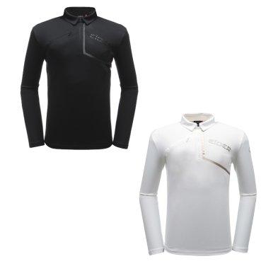 LEIF (리프) 남성 짚업 폴로 티셔츠 / 긴팔  DMU19217