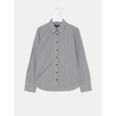 [Online Exclusive] 블랙 스트라이프 베이직 셔츠 (BF9264N025)