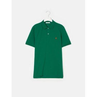 19SS  Unisex 그린 솔리드 칼라 티셔츠(BC9242A01M)