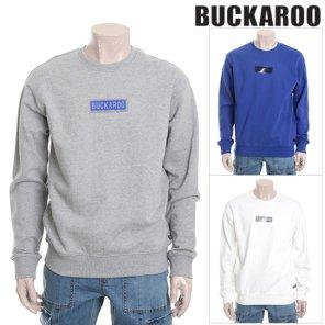 버커루 남여공용 3단쭈리 박스 맨투맨 티셔츠 B191TS020P