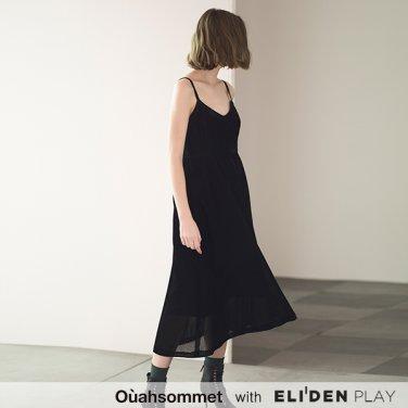 [우아솜메][에이핑크 남주 착용] Ouahsommet VELVET BUSTIER DRESS [BLACK] (OBBOP001A)
