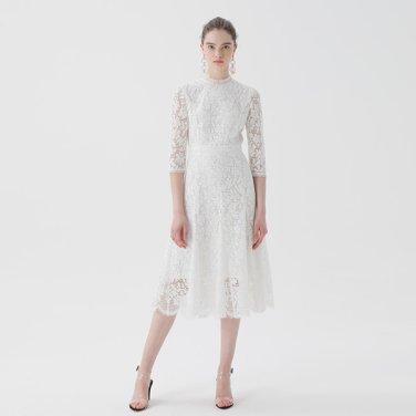 플레어 튤 레이스 드레스(NW9MO169)