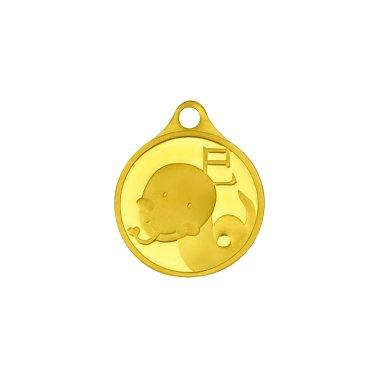뱀띠 목걸이 메달 3.75g