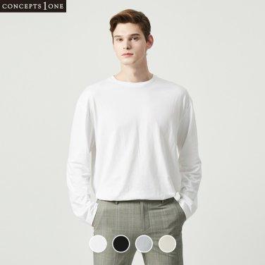 남성 오버핏 수피마 긴팔 티셔츠 (10020102)
