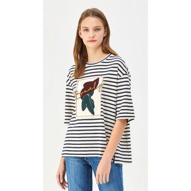 우먼 스트라이프 티셔츠 BATS15941