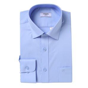 폴리스테치 블루 솔리드 카라배색 일반핏 셔츠 RKSSG0003BU