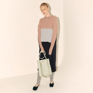 Fine Wool Knit Dress_Pink Combi (JC19WTKT-03_PK)