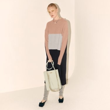 Fine Wool Knit Dress_Pink Combi (JC19WTKT-03_PK)