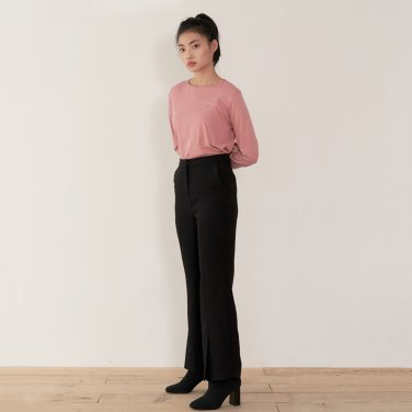 19AU SLIT PANTS (BLACK)