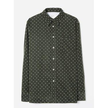 스폿 코드 브룩 셔츠 올리브 / Brook Shirt in Olive Spot Cord / REF 21654