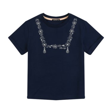 NV꽃자수 티셔츠(E_HPM11TR68M-NV)