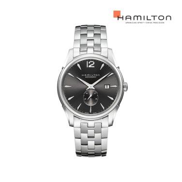 H38655185 재즈마스터 슬림 스몰 세컨즈 그레이 메탈 남성 시계