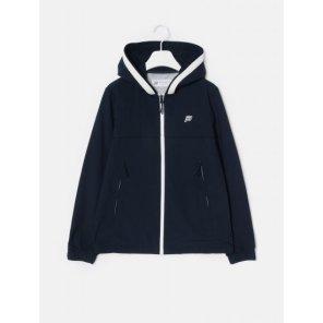 네이비 여성 스포티 후드 쇼트 재킷 (BO9239C14R)