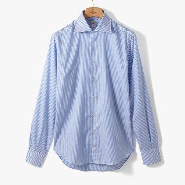 [TBRM]CLASSIC DRESS SHIRT (STRIPE 2) LIGHT BLUE/TB92M40002A84