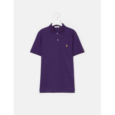 19SS  Unisex 퍼플 솔리드 칼라 티셔츠(BC9242A01U)