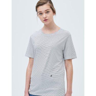 화이트 핀 스트라이프 엔트리 티셔츠 (BF9342U101_)