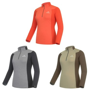 VERS (베르스) 여성 짚업 티셔츠  / 등산티 (DWU15244