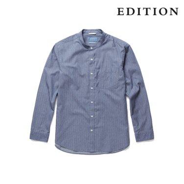 핀 스트라이프 코튼 셔츠 (NEZ3WC1601)