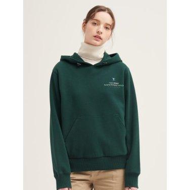 [GREEN BEANPOLE] 그린 레터링 캥거루 포켓 후드 티셔츠 (BF9X41N04M)