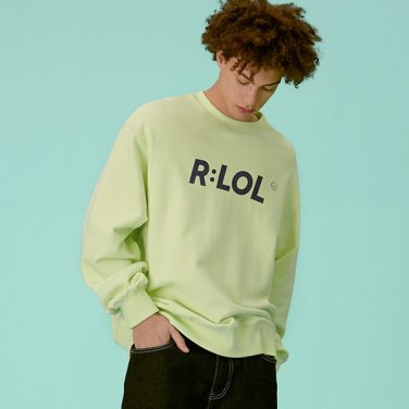 [RLOL] (TS-19701) RLOL BASIC SWEATSHIRT LIME