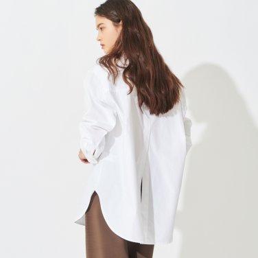 백 컷팅 오버핏 셔츠