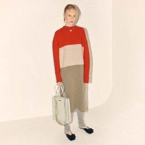Fine Wool Knit Dress_Red Combi (JC19WTKT-03_RD)