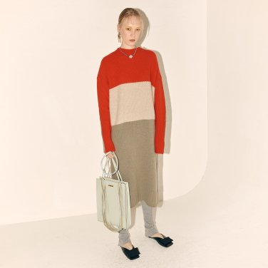 Fine Wool Knit Dress_Red Combi (JC19WTKT-03_RD)