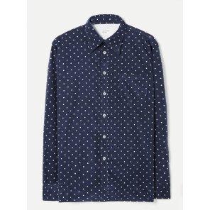 스폿 코드 브룩 셔츠 네이비 / Brook Shirt in Navy Spot Cord / REF 21654