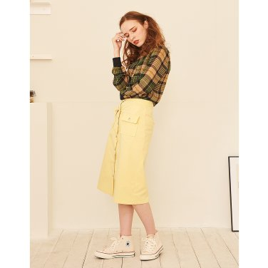 Square Pocket Skirt _ Yellow