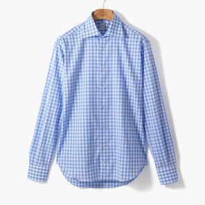[TBRM]CLASSIC DRESS SHIRT (GINGHAM) LIGHT BLUE/TB92M40003A84