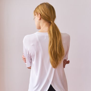 SLIT T-SHIRTS_WHITE