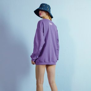 Overfit sweat shirt 002 Purple