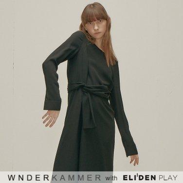 [분더캄머:WNDERKAMMER] Cotton Flared Dress_Black (WK9F8-CFOP010)