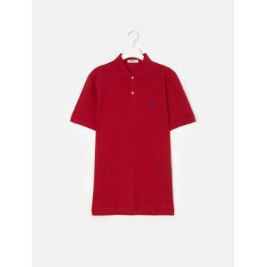 19SS  Unisex 레드 솔리드 칼라 티셔츠(BC9242A016)