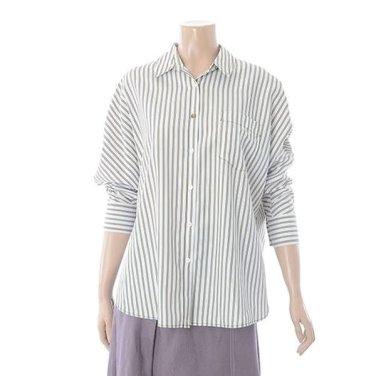 여성 스트라이프 라글랑 셔츠(TWBAH2406)