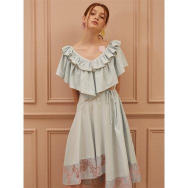 [까이에] Embellished Ruffle Dress