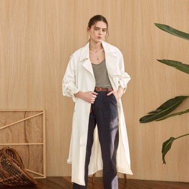 COTTON CLASSIC TRENCH COAT_IVORY