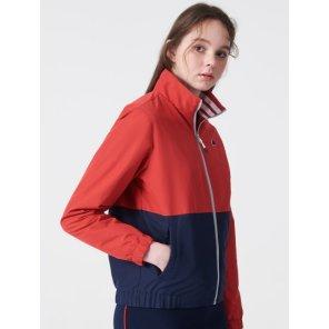 레드 여성 메쉬 브러쉬드 재킷 (BO9139C046)