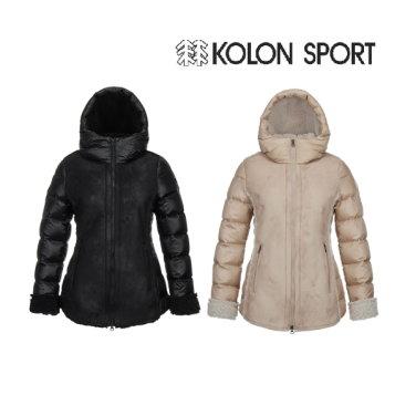 여성 페이크 무톤 다운자켓 JKJDW18632