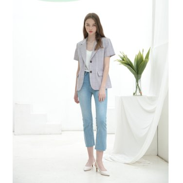 [클렛] Linen Check Jacket (19CLETSM09E)