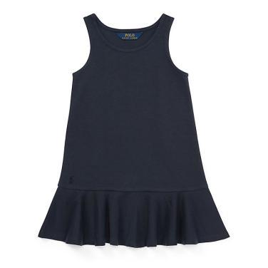 폴로 랄프 로렌 베이비 폰테 슬리브리스 드레스(CWPODRSO3D10200B82)