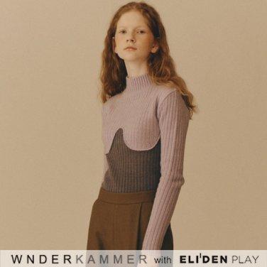 [분더캄머:WNDERKAMMER] Coloration Sweater Top_Lavender (WK9F0-CRSW040)