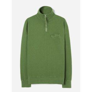 하프 집업 스웻 셔츠 그린 / Half Zip Sweatshirt in Green Dry Handle Loopback / REF 21603