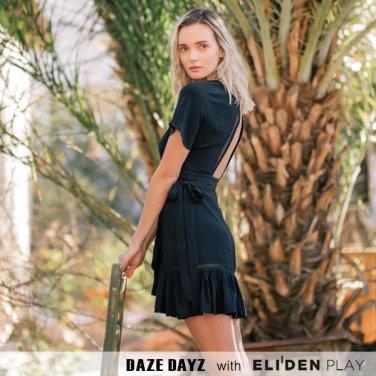 [데이즈데이즈] DAZE DAYZ  EBONY WRAP DRESS (D9M148)