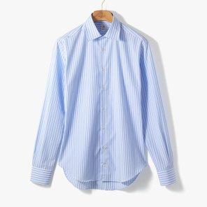[TBRM]CLASSIC DRESS SHIRT (STRIPE 3) SKY BLUE/TB92M40004A83