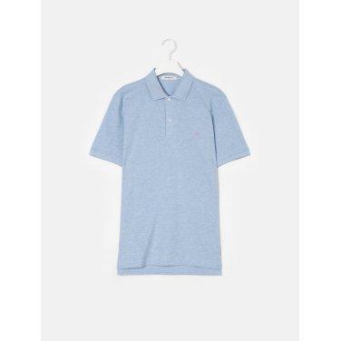 19SS  Unisex 스카이 블루 솔리드 칼라 티셔츠(BC9242A01Q)