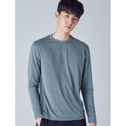 남성 [ACTIVE8] 그린 백 배색 메쉬 티셔츠 (428841WA3M)