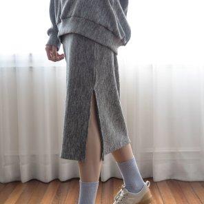 Merino Nano Natural Skirt Gray(2019SSSK320_003)
