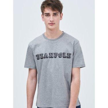 Unisex 그레이 로고 레터링 라운드넥 티셔츠 (BC9142N013)