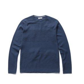 잔조직 라운드 풀오버 스웨터 NEA1ER1901